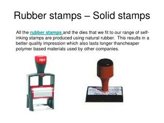 rubber stamps and date stamps