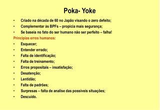 Poka- Yoke