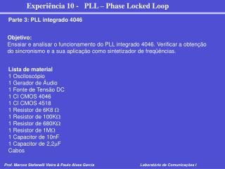 Parte 3: PLL integrado 4046
