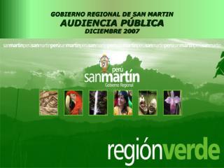 GOBIERNO REGIONAL DE SAN MARTIN  AUDIENCIA P BLICA DICIEMBRE 2007