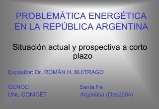 PROBLEM TICA ENERG TICA EN LA REP BLICA ARGENTINA