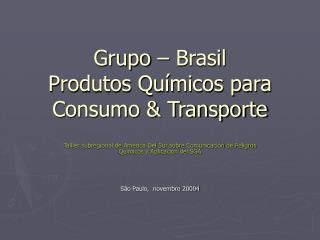 Grupo   Brasil Produtos Qu micos para Consumo  Transporte