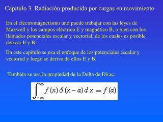 Cap tulo 3. Radiaci n producida por cargas en movimiento
