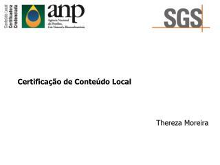Certifica  o de Conte do Local
