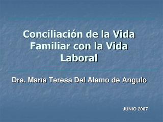 Conciliaci n de la Vida Familiar con la Vida Laboral