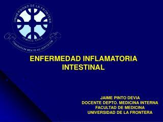 JAIME PINTO DEVIA  DOCENTE DEPTO. MEDICINA INTERNA FACULTAD DE MEDICINA UNIVERSIDAD DE LA FRONTERA
