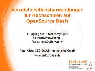 Verzeichnisdienstanwendungen f r Hochschulen auf OpenSource Basis