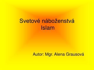 Svetov  n bo enstv    Islam