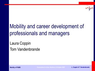 Mobility and career development of professionals and managers