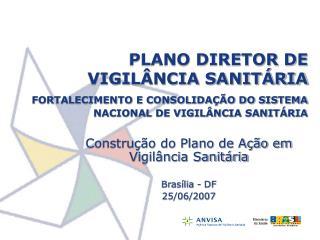 PLANO DIRETOR DE VIGIL NCIA SANIT RIA  FORTALECIMENTO E CONSOLIDA  O DO SISTEMA NACIONAL DE VIGIL NCIA SANIT RIA