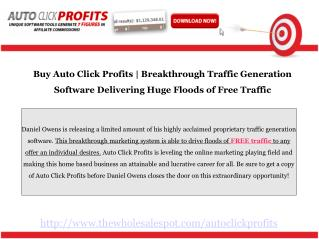 Auto Click Profits is the New Coveted Marketing Resource