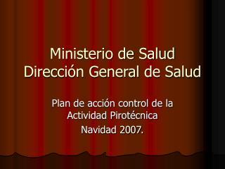 Ministerio de Salud Direcci n General de Salud