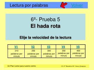 6 - Prueba 5  El hada rota  Elije la velocidad de la lectura