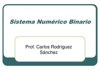 Sistema Num rico Binario