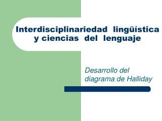 Interdisciplinariedad  ling  stica  y ciencias  del  lenguaje
