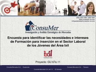 Encuesta para identificar las necesidades e intereses de Formaci n para inserci n en el Sector Laboral de los J venes de