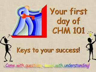 Your first day of CHM 101