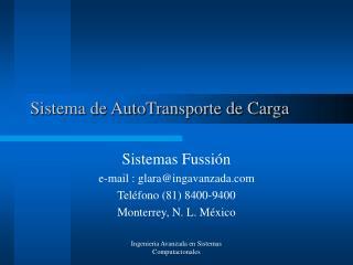 Sistema de AutoTransporte de Carga