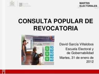 CONSULTA POPULAR DE REVOCATORIA
