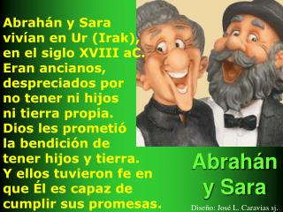Abrah n y Sara   Dise o: Jos  L. Caravias sj.