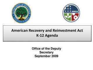 American Recovery and Reinvestment Act K-12 Agenda