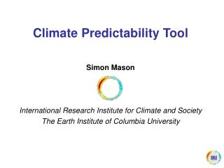 Climate Predictability Tool