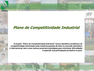 Plano de Competitividade Industrial