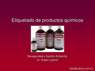 Etiquetado de productos qu micos