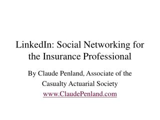 Social Networking for Insurance