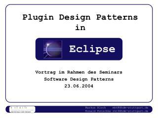 Plugin Design Patterns in