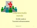 Litteraturstudie metode