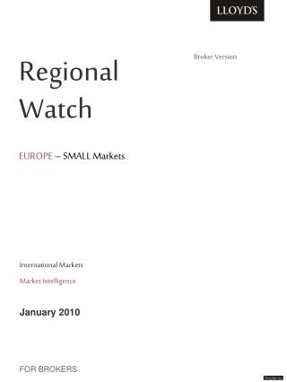 Regional         Watch   EUROPE   SMALL Markets