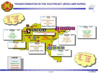 TRANSFORMATION IN THE SOUTHEAST BRAC