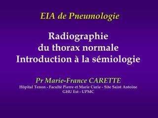 EIA de Pneumologie