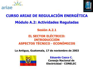 CURSO ARIAE DE REGULACI N ENERG TICA