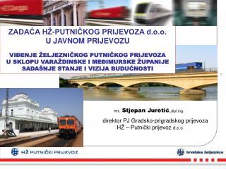Mr. Stjepan Juretic,diplg.  direktor PJ Gradsko-prigradskog prijevoza          H    Putnicki prijevoz d.o.o
