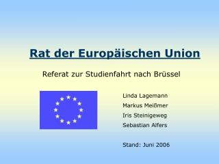Rat der Europ ischen Union