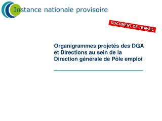 Organigrammes projet s des DGA  et Directions au sein de la Direction g n rale de P le emploi