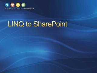 LINQ to SharePoint
