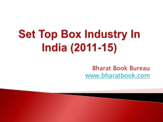 Set Top Box Industry In India (2011-15)