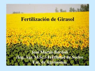 Fertilizaci n de Girasol