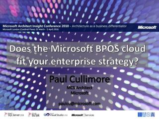 Does the Microsoft BPOS cloud fit your enterprise strategy