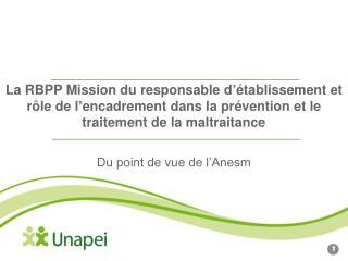 La RBPP Mission du responsable d  tablissement et r le de l encadrement dans la pr vention et le traitement de la maltra