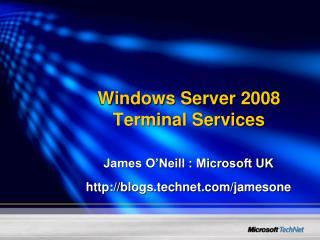 Windows Server 2008 Terminal Services