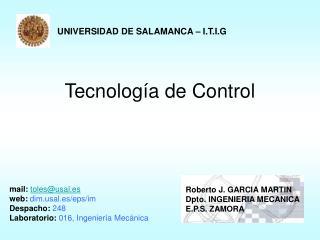 Tecnolog a de Control