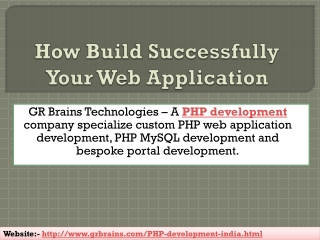 How Build Successfully Your Web Application