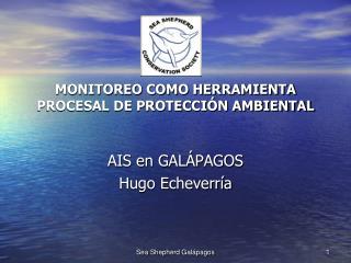 MONITOREO COMO HERRAMIENTA PROCESAL DE PROTECCI N AMBIENTAL