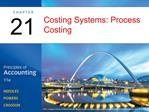 Costing Systems: Process Costing