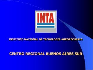 INSTITUTO NACIONAL DE TECNOLOG A AGROPECUARIA