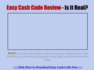 Easy Cash Code Review - You Invest Your Hard Earned Money